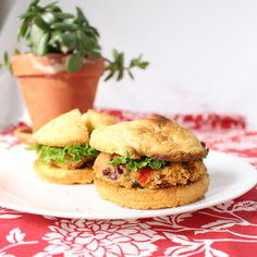 Quinoa and Bean Burger with Gluten-Free Cornbread Buns