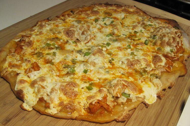 Thin Crust Buffalo Chicken Pizza