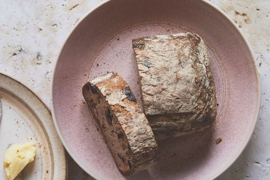 Gluten-Free Black Olive, Caraway, and Honey Yeast Bread