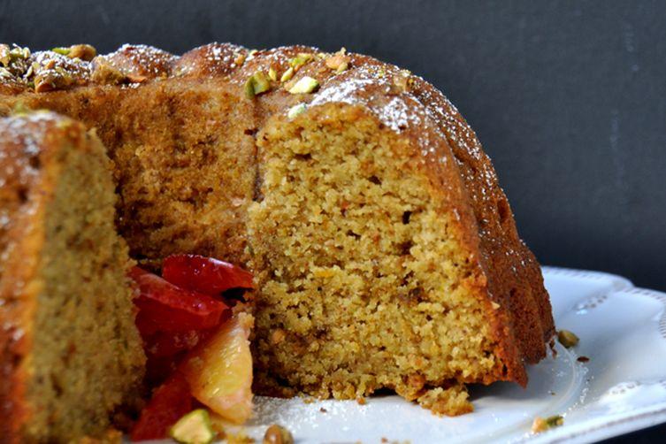 Gluten Free Allmond Pistachio Cake