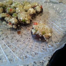 Quinoa-Stuffed Mushrooms