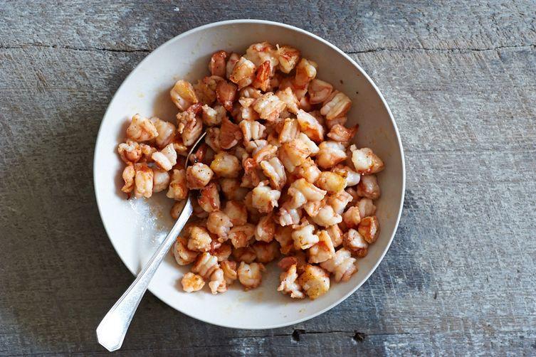 Crispy Shrimp & Red Quinoa Patties