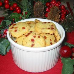 Cheddar & Prosciutto  Shortbread Cookies