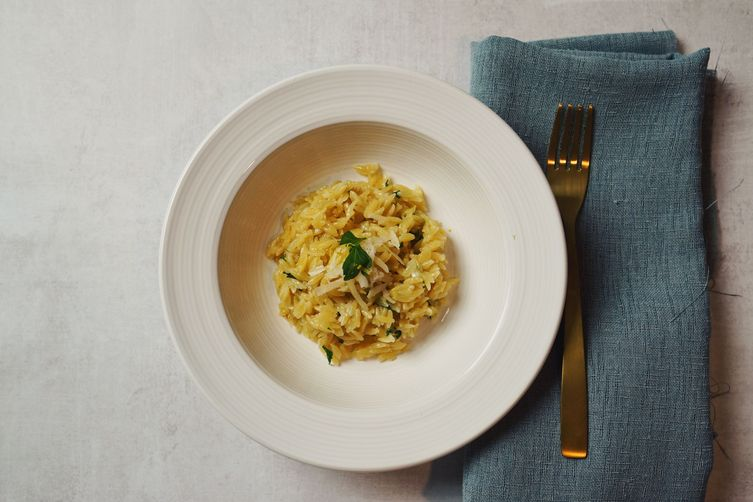Diana Henry's Orzo with lemon zest, parsley and cheese