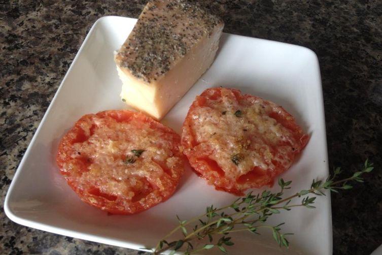 Panko Parmesan Thyme Tomatoes