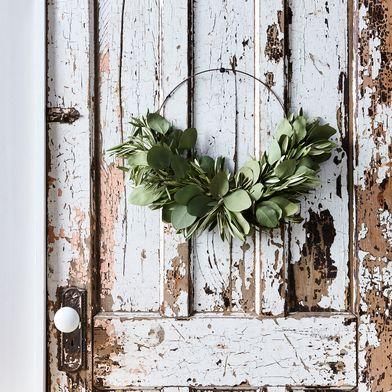 Olive & Eucalyptus Half Wreath