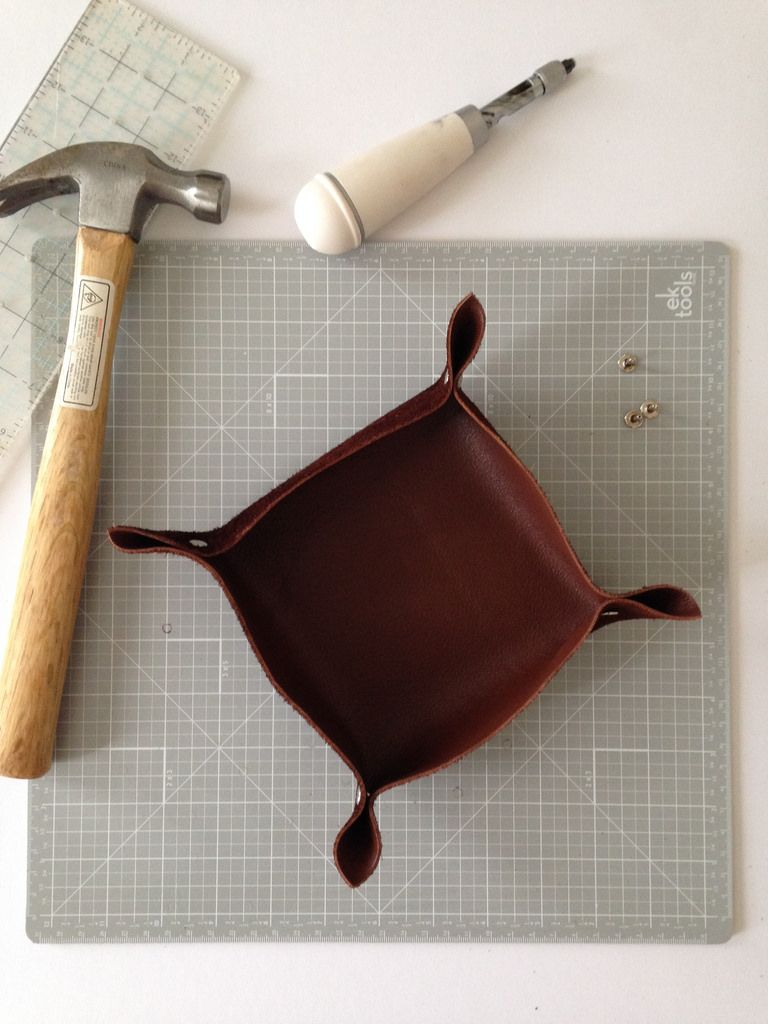 DIY Leather Catchall by Laura Kaesshaefer