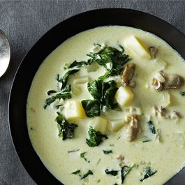 Oyster and Spinach Chowder