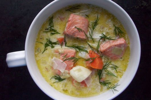 Lohikeitto - Finnish salmon soup