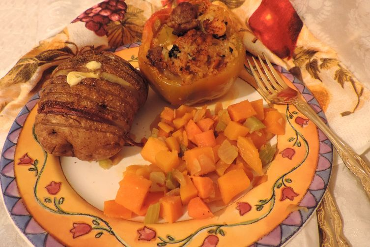 Cajun Spiced Stuffed Golden Peppers