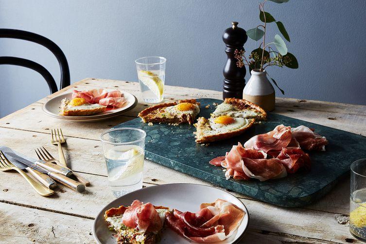 Leek, Prosciutto, and Egg Tart