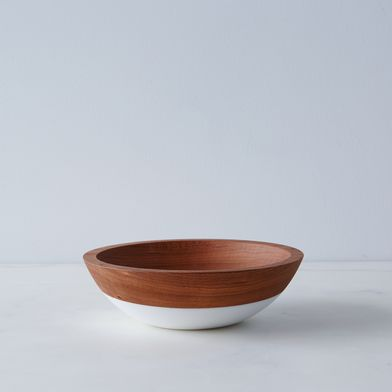 "Hand-Dipped Cherry Wood Bowl (7"")"
