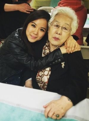 Esther and her grandma.