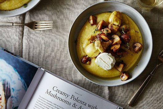 Creamy Polenta with Mushrooms & Artichoke