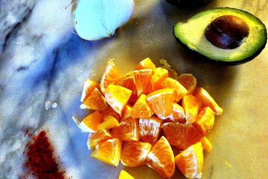 Smokey Orange and Avocado salad
