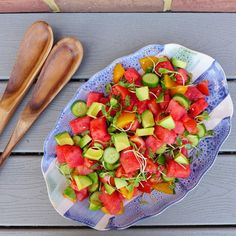 Watermelon Tomato Salad, for Picnicking