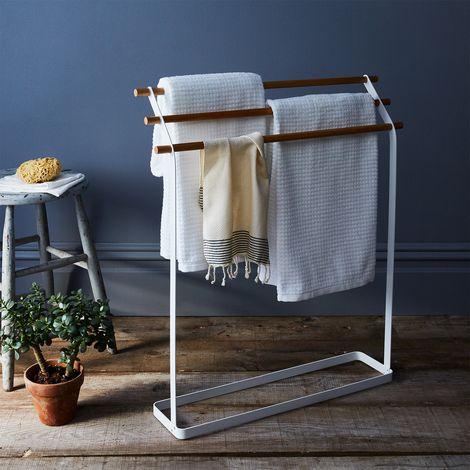 Steel & Wood Linen Rack