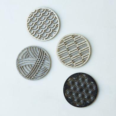 Geometric Felt Coasters (Set of 4)
