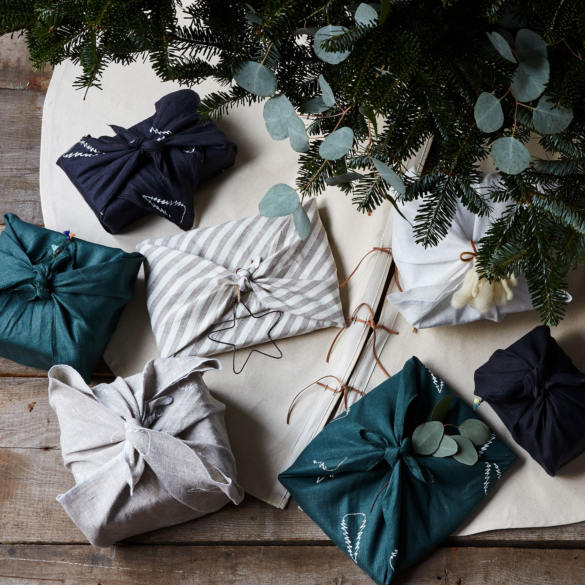Furoshiki-Inspired Linen Gift Wrap (Set of 3) on Food52