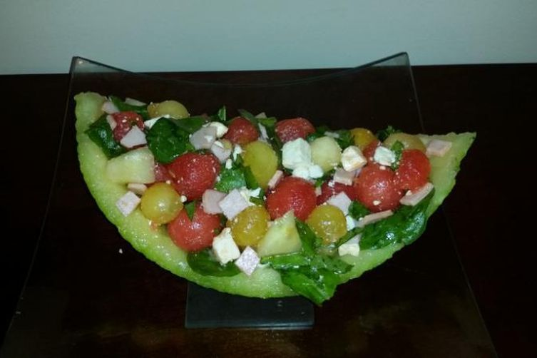 Melon Wedge Salad With Honey Vinaigrette