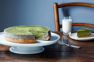 Matcha-Black Sesame Cheesecake