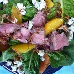 Steak & Citrus Salad with Fried Shallots