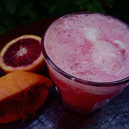 Blood Orange Dreamsicle Float