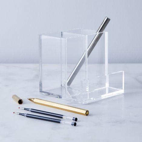 Acrylic Desk Organizer & Rollerball Pen