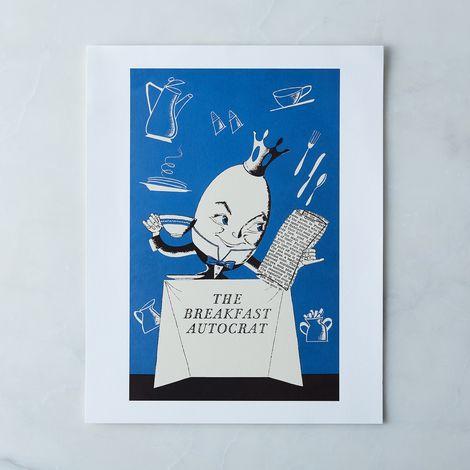 Vintage Menu Print: The Breakfast Autocrat