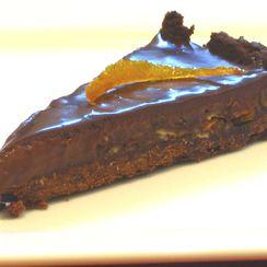 Dark Chocolate & Candied Orange Tart