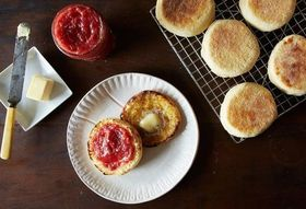 Christina Tosi's English Muffins + Pickled Strawberry Jam