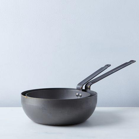 Mauviel M'steel Splayed Curved Sauté Pan