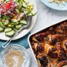 Rachel Khoo's Sticky Malaysian Chicken with Pineapple Salad
