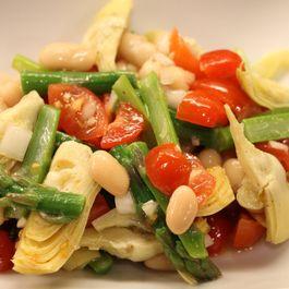 Light Spring Asparagus & Artichoke Salad