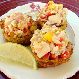 2d7db910 397d 469d bd59 da2a9c262c37  food 52 mofongo cups with chicken mango salad