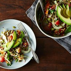 French Lentil, Kamut, and Avocado Salad with Basil Dressing