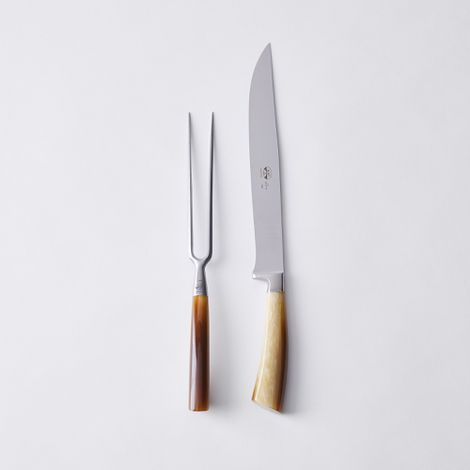 Berti Italian Cornotech-Handled Carving Set