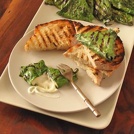 Chard Wrapped Grilled Mozzarella with Kalamata Olives