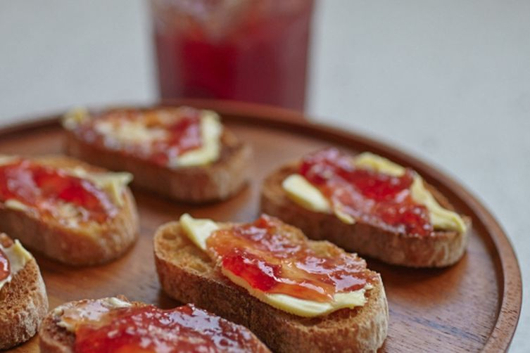 Blood Orange Marmalade {with salted butter on toasted crostini}