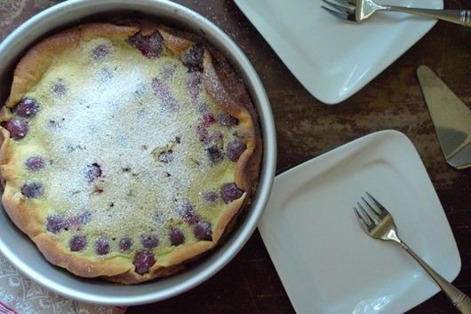 Silky Smooth Chocolate Cherry Clafoutis