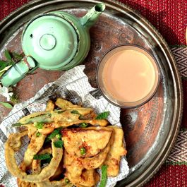 Monsoon Spiced Vegetable Pakoras (crispy batter dumplings)