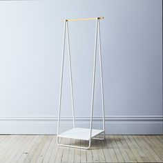 Steel & Wood Standing Rack