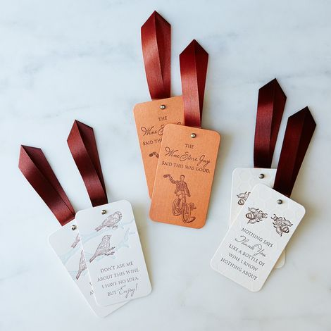 Letterpressed Witty Wine Tags, Set of 6