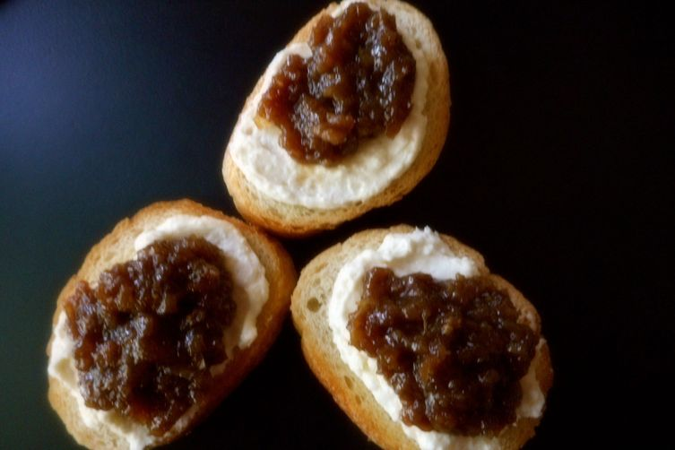 Whipped Feta and Raisin Crostini