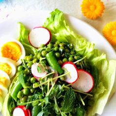 Three Pea Salad with Sweet Vinegar and Oil Dressing