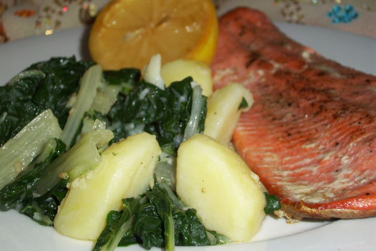Swiss chard with potatoes ( Blitva na lešo )