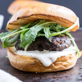 Lamb Burgers with Goat Cheese Spread