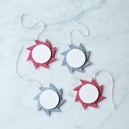 Origami Pinwheel Star Gift Tags (set of 4)