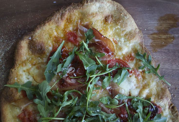 Speck + Arugula Pizza for a Virtual Dinner Party