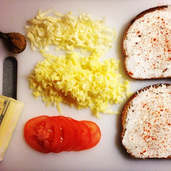 Creamy Coriander Grilled Cheese